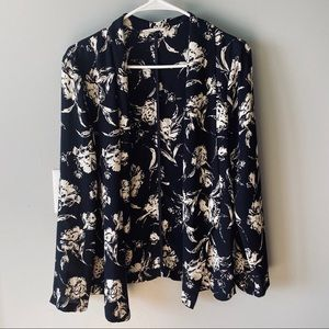 Lush floral open front top